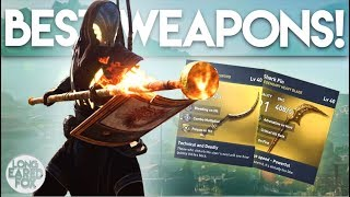 Assassin's Creed Origins   BEST ENDGAME WEAPONS & HOW TO GET THEM! - Fire Sword, Fire Staff & MORE!