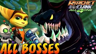 Ratchet and Clank: All 4 One - All Bosses (No Damage)