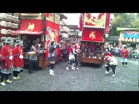 2012年成岩地区祭礼 北村成車 成岩神社内
