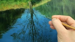 #96 Finishing The Water | Oil On Panel