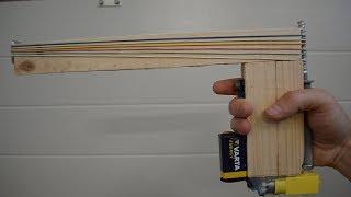 How to make Semi-Automatic Rubber Band Gun - DIY