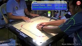 Final  Set 3 Zaheer Pasha Vs Riyaz Akbar Ali 46th Sr. National & Interstate Carrom Tournament