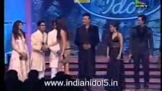 Indian idol 5 Finale - 15th august 2010 finale  Winner Sree Ram Chandra