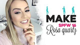 Maquiagem NUDE rosa quartz SPFW 2016 por Mariana Saad
