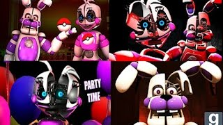 SFM FNAF SISTER LOCATION FUNTIME CHICA AND BONNIE ANIMATION COMPILATION
