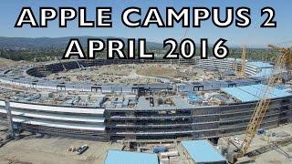 APPLE CAMPUS 2: April 2016 Construction Update 4K