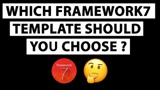Which Framework7 template should you choose?