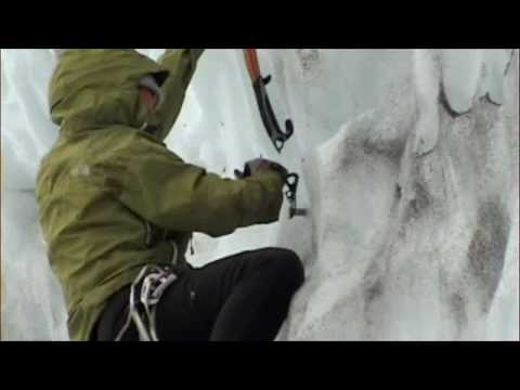 Glacial Ice Climbing during AMGA aspirant exam