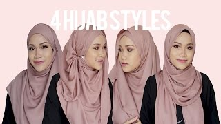 Everyday Favourite 4 Hijab Styles Cover Chest Tutorial