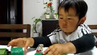 【Ren1才9ヶ月】トーマスプラレールぜんまい