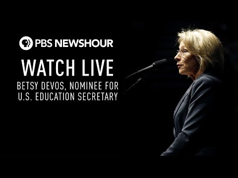WATCH LIVE Betsy Devos confirmation hearing