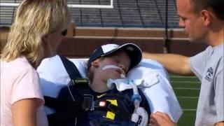 ESPN Mighty Matt Make-A-Wish Story at The Big House
