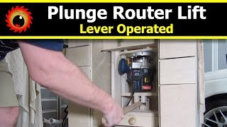 DIY Router Lift for Plunge Routers