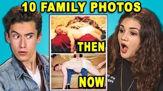 10 THEN and NOW Family Photos! (React)
