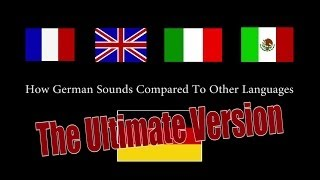 How German Sounds Compared To Other Languages (Ultimate / Full Version) || CopyCatChannel