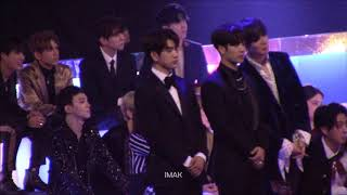 171201 MAMA GOT7 (Jinyoung focus) Reaction to Karen Mok's performance