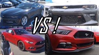2016 Chevrolet Camaro SS vs 2016 Ford Mustang GT