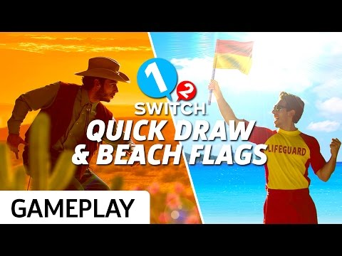 Quick Draw and Beach Flags Gameplay on 1-2 Switch