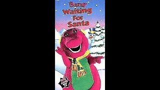 Opening & Closing To Barney:Waiting For Santa 1995 VHS (It's The Real Deal!)