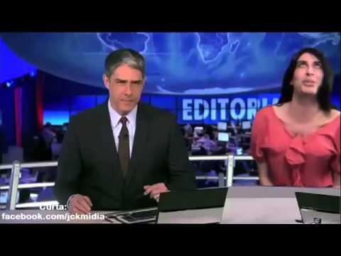 CENSURADO Patrícia Correta corrige ao vivo William Bonner no Jornal Nacional