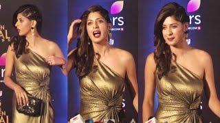Aishwarya Sakhuja Hot At Colors Golden Petal Awards 2017