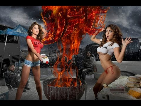 Brittney Palmer and Arianny Celeste heat up for UFC 169 Body Painting
