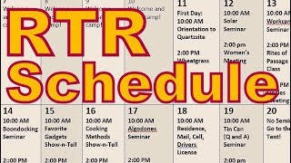 Official RTR Schedule 2018