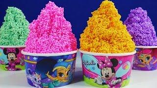 Shimmer & Shine Minnie Foam Clay Ice Cream Surprise Toys Disney Princess Peppa Pig Little Mermaid