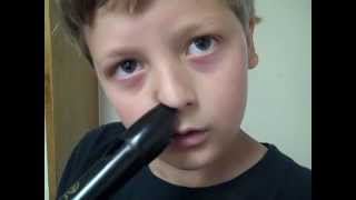 playing my recorder with my nose while beatboxing