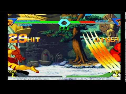 X-Men vs Street Fighter (PSone): Sabretooth RAPE Combo