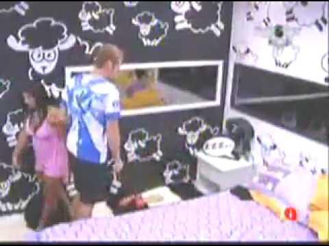 BBB 9 Priscila lutando com Flávio 20 03 09 parte 1