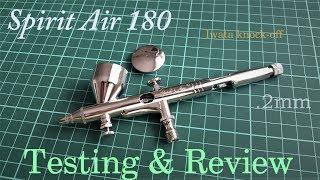 Cheap Chinese Airbrush Testing: .2mm Spirit Air 180 - Iwata Knock-off