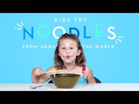 Kids Try Noodles from Around the World Kids Try HiHo Kids