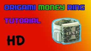 How To Make an Origami Ring From a Dollar Bill  (Tutorial)
