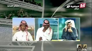 نقاش محمد النمري ونبيل العبودي حول قيمة عقود اللاعبين #عالم_الصحافة