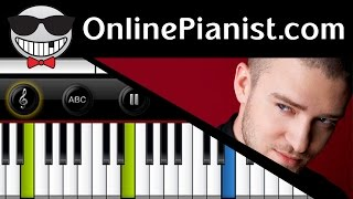 Justin Timberlake - Cry Me A River - Piano Tutorial & Sheets (Accompaniment Intermediate)