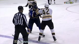 David Backes vs Joel Edmundson Jan 10, 2017