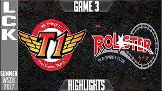 SKT vs KT Highlights Game 3 | LCK Week 5 Summer 2017 | SKT T1 vs KT Rolster Game 3