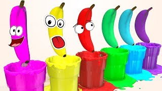 Learn Colors with Superheroes Banana Pool for Children & Cars for Kids Soccer Balls Learning Video
