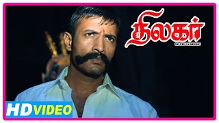 Thilagar Tamil Movie | Scenes | Kishore is killed by Poo Ram | Dhruvva