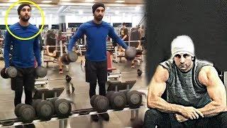 Ranbir Kapoor Gym Bodybuilding Workout Video For Sanjay Dutt's Biopic