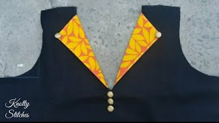 Beautiful Kurti Neck design (easy) cutting and stitching in hindi/ Office wear