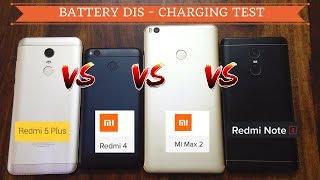 Redmi 5 Plus VS Redmi Note 4 VS Redmi 4 Mi Max 2 - Battery Discharging Comparison