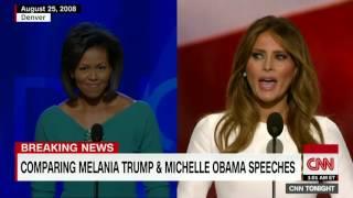 فضيحة في اولى خطابات ميلانيا زوجة ترامب عند افتتاحها المؤتمر