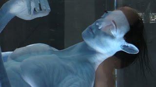 "Incredible ""Avatar"" animatronic in Flight of Passage ride queue - Pandora at Walt Disney World"