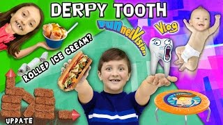 Mike's DERPY Stubborn Tooth / Rolled Up Ice Cream? / Backyard Fort Updates (FUNnel Vision Vlog)