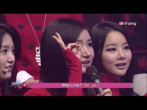 (EXID) Raehwan (BIGSTAR) asking to LE to joing in his team @ Arirang's Simply K-Pop 121225