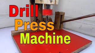 how to make drill press machine