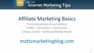 Affiliate Marketing Basics for Beginners