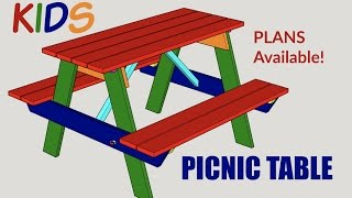 Kids Picnic Table - Woodworking Project with Plans